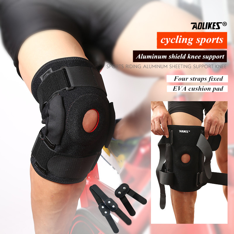 1 PCS Aolikes Knee Brace with Polycentric Hinges Professional Knee Pad Guard Breathable Outdoor Climbing Cycling Knee Support scoyco motorcycle riding knee protector extreme sports knee pads bycle cycling bike racing tactal skate protective ear