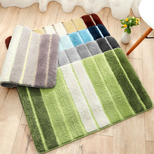 Striped multi-color Bathroom Carpets Soft absorbent doormat kitchen anti-slip for entrance door floor mats