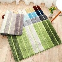 Striped multi color Bathroom Carpets Soft absorbent doormat Bathroom kitchen anti slip doormat for entrance door floor mats