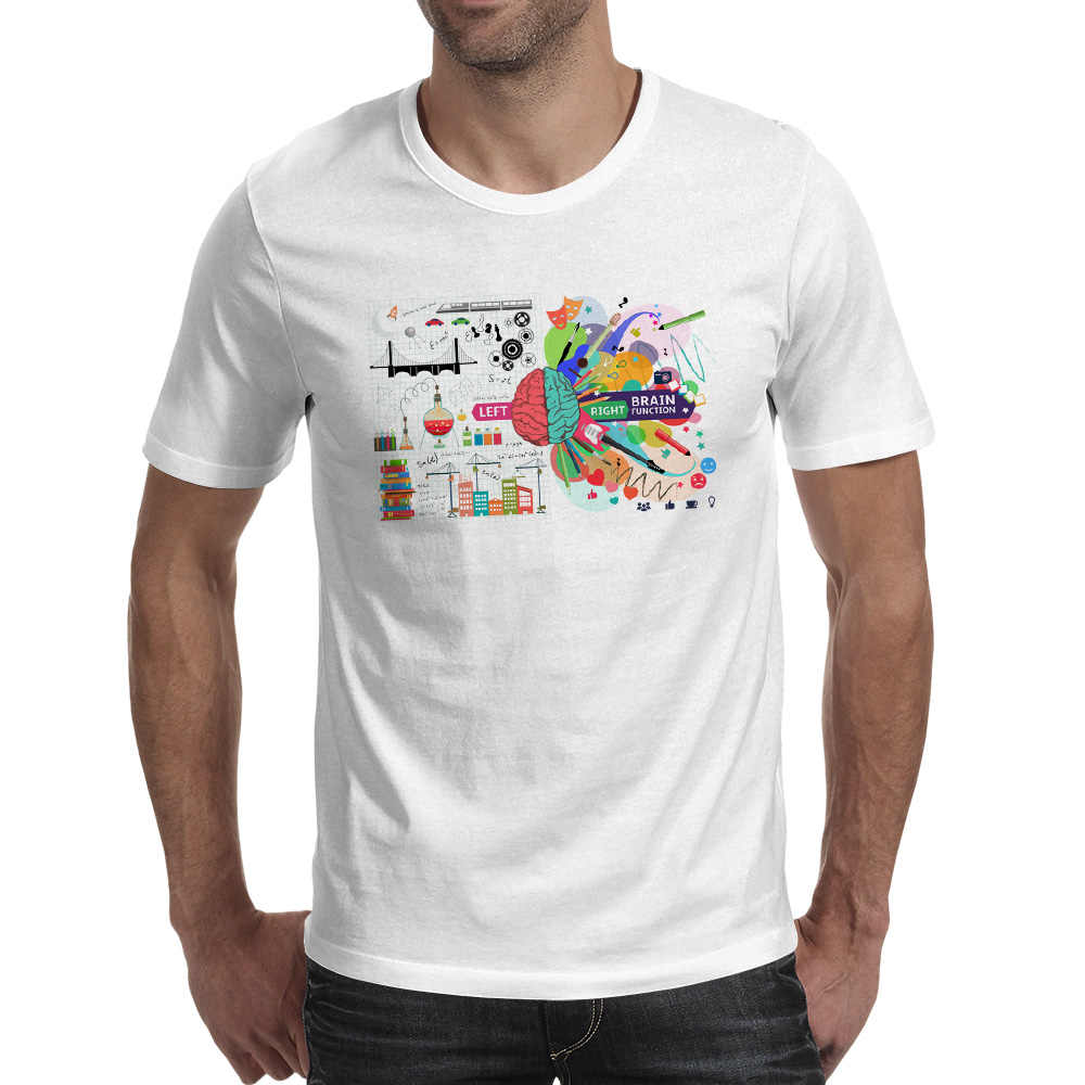 9ea5f8792 ... Geek Brain T Shirt Science Chemistry Biology Art Geography Math Physics  Cool Fashion Punk T- ...