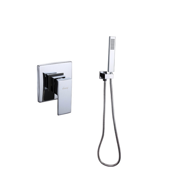 Bathroom Mixer Concealed shower set faucet torneira Wall Mounted single function Mixer Taps copper mixing valve+seat+hand shower led light rgb 5050 led strip ip20 non waterproof flexible diode tape 2 4g rf remote rgb controller power adapter 20m 15m 10m 5m