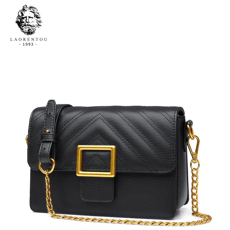 купить LAORENTOU2018 new chain shoulder small square bag simple leather fashion casual Messenger bag handbag по цене 4691.83 рублей