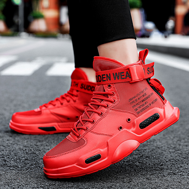 Image 2 - YRRFUOT Fashion High Top Men Shoes Trend  Hot Sale Light Sneakers High Quality Comfortable Casual men Shoes Non slip Flats Shoes-in Men's Casual Shoes from Shoes
