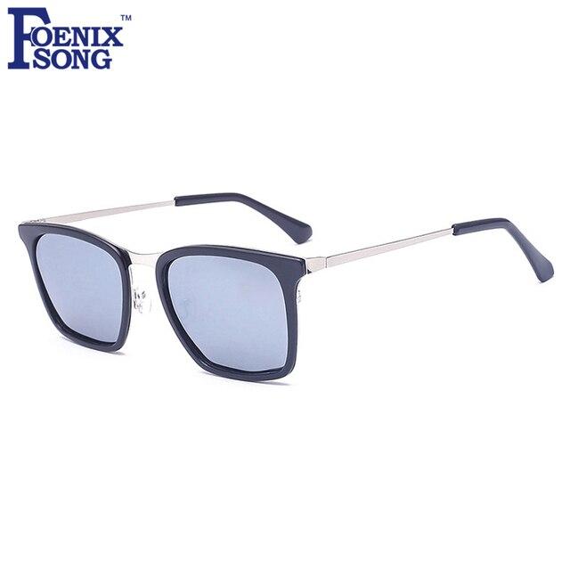 FOENIXSONG Brand New Retro Unisex Sunglasses Women Square Gold Black Frame  Men Polarized Sun Glasses Sports Gafas Oculos de Sol e3ab1e55ed