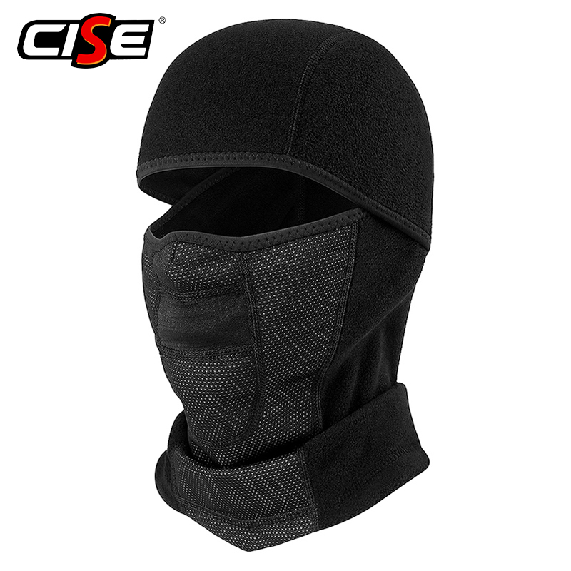 Polar Fleece Wool Balaclava Motorcycle Neck Warmer Full Face Mask Breathable Windproof Bicycle Ski Snowboard Workout Black Liner full face cover mask winter ski mask beanie cs hat windproof neck warmer for outdoor snowboard ski motorcycle for christmas gift
