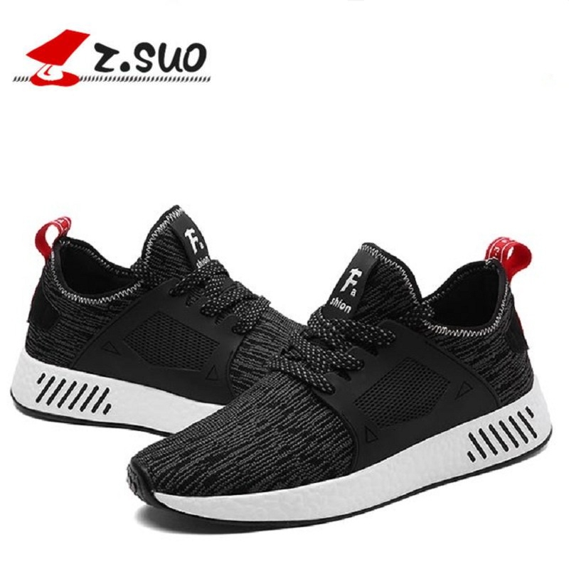 Z.suo 2018 Men Casual Shoes Mens Trainers Flat Comfortable Breathable  Superstar Trainers Red Bottom Zapatillas Ultra Boosts 30dc8126a