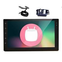 Android 6.0 car GPS Radios estéreo con Quad Core doble 2DIN navegación GPS Radios soporta WiFi/1080 p/obd2 + Cámara dual libre