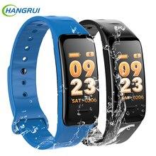 Hangrui C1s SmartBand Big Color-screen Fitness Tracker blood pressure Heart Rate Monitor sleep tracker Wristband For Android IOS цена