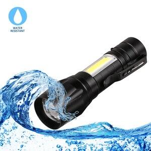 Image 4 - USB Sạc XPE + LED COB Bộ Đèn Pin Đèn Linternas Được Xây Dựng trong Pin Bằng Cáp USB Hộp Quà Tặng
