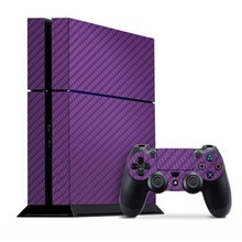 PS4 Skins Carbon Fiber Design Skin Stickers For Sony PS4 Console Plus For Sony Dualshock 4 Remote Controller Skins Cover
