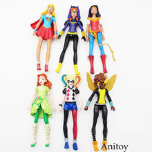 DC Comics Supergirl Batgirl Wonder Women Harley Quinn Poison Ivy PVC Action Figure Collectible Model Toy 15cm 6pcs/set KT3609