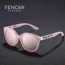 Fenchi Sunglasses Women Metal Cat Eye Glasses Driving Mirror Fashion Design New Ear High Quality