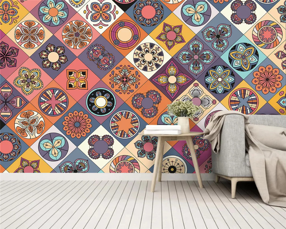 Beibehang Custom Silky Wallpaper Geometric Parquet Art Deco Bar Tooling Sofa Classic Background Papel De Parede 3d Papier Peint