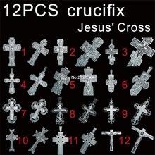 12pcs for choose Jesus Cross 3D STL model for carved figure cnc machine crucifix model Router Engraver ArtCam  цена 2017