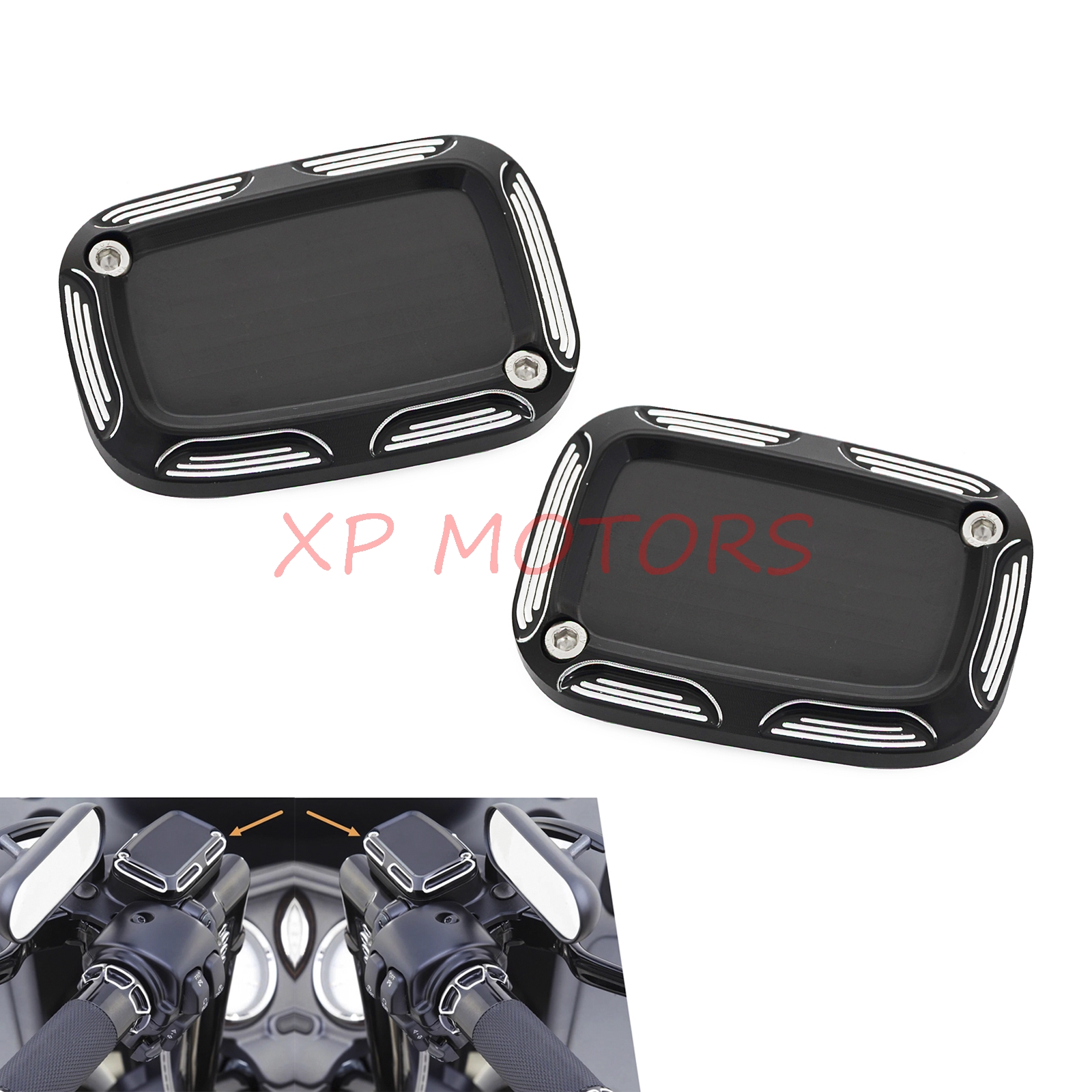Left&Right Clutch Master Cylinder Cover For 06-later VRSC 14-16 Touring Models&Some Harley Models Equipped With Hydraulic Clutch viborg audio fp 3ts20 power cable schuko power plug figure 8 iec connector power cable