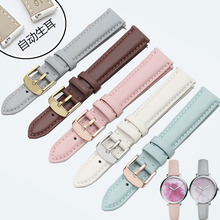 Bracelet en cuir pour femmes, livraison gratuite, bracelet de 12mm 14mm 15 mm 16mm 17mm 18mm 20mm, or rose blanc noir marron