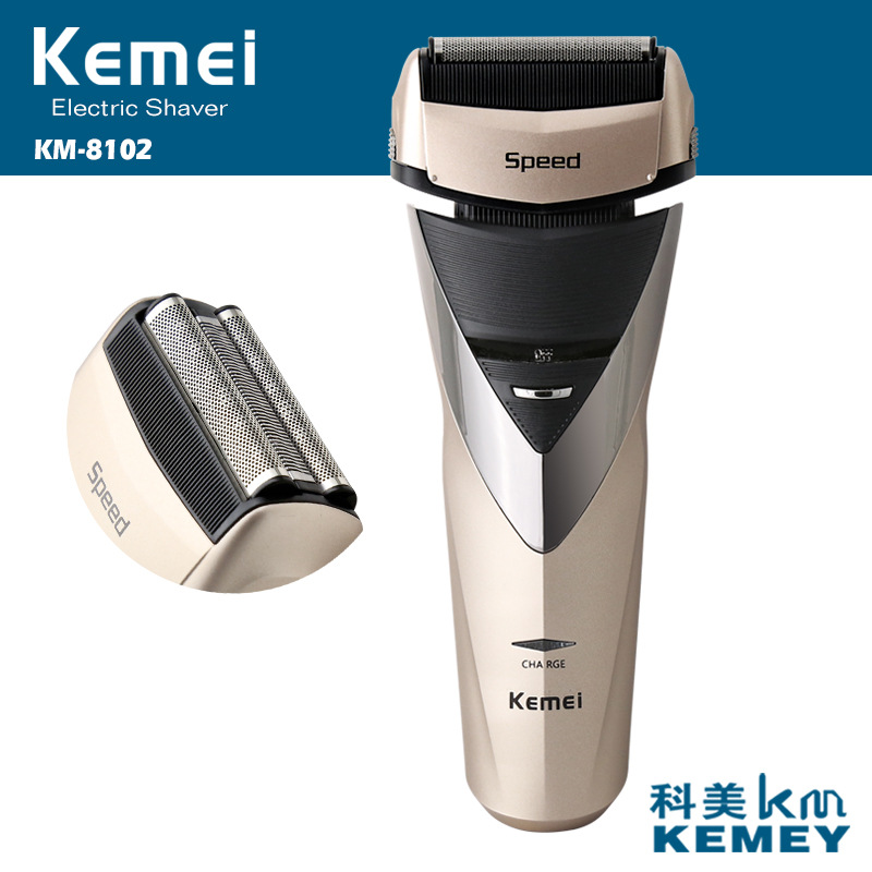 3D rechargeable electric shaver kemei washable electric razor men shaving machine beard trimmer face care-in Electric Shavers from Home Appliances