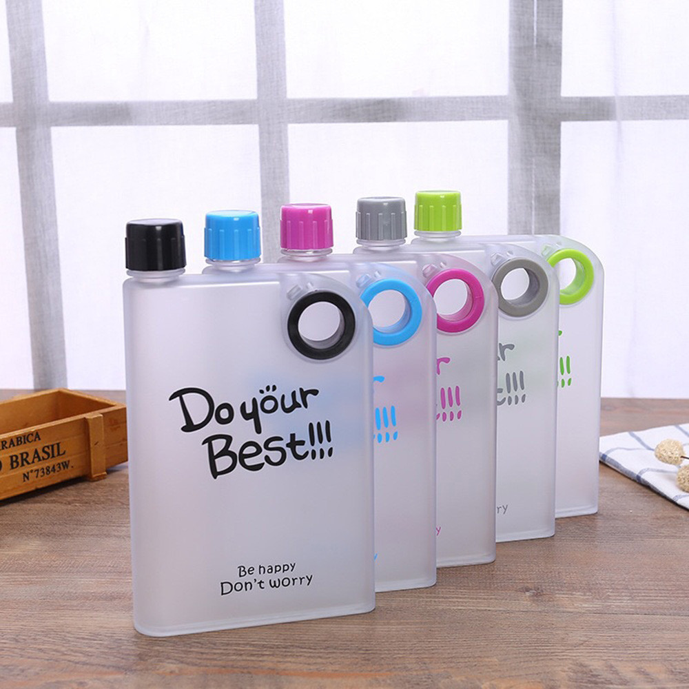 Creative Travel Outdoor Water Bottles Portable Dog Cat: Creative Water Bottle Clear Book Portable Paper Pad Water