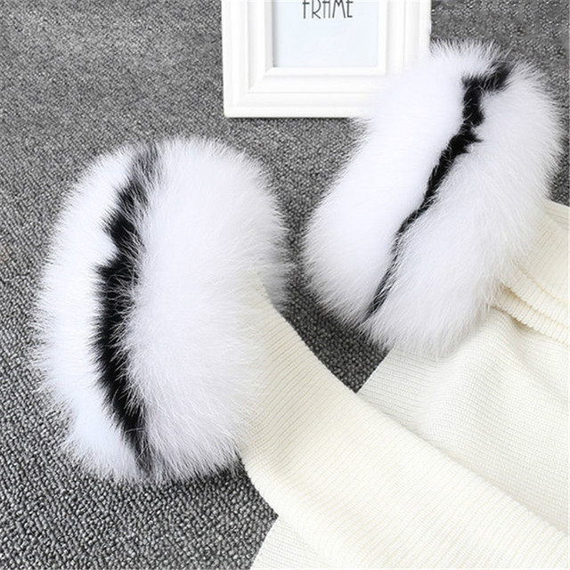 Fox fur Cuffs Wrist Warmer Bracelet
