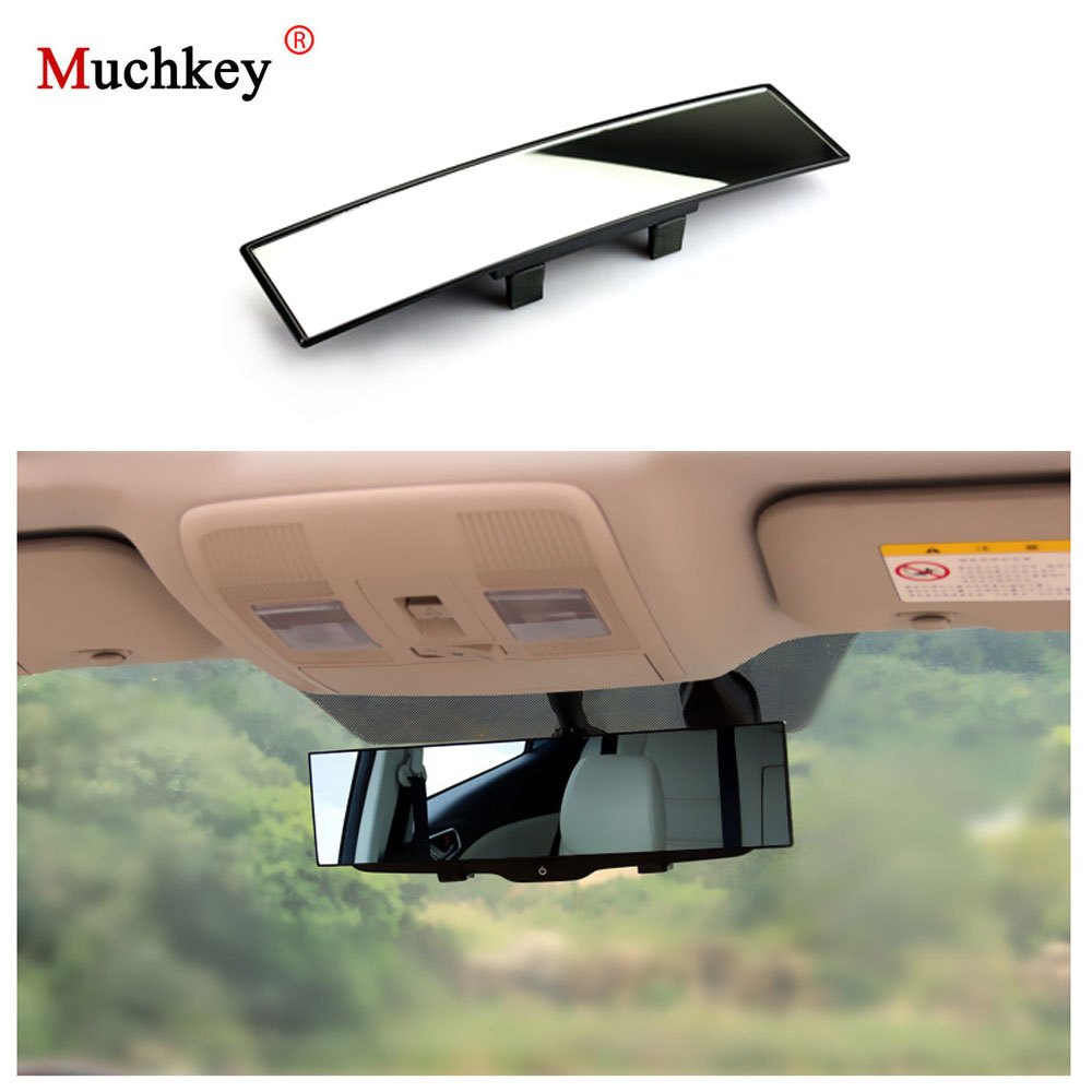 Car Large Angle 300mm Curved Interior Clip On Rear View Convex Mirror Universal