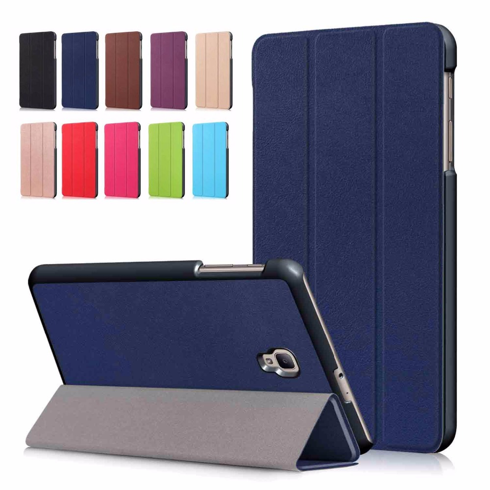 New Smart Case for Samsung Galaxy Tab A 8.0 SM-T380 SM-T385 2017 Edtion Ultra Slim PU Leather Case Cover Auto Sleep Wake up аксессуар закаленное стекло для samsung galaxy tab a 8 0 sm t385 df ssteel 63