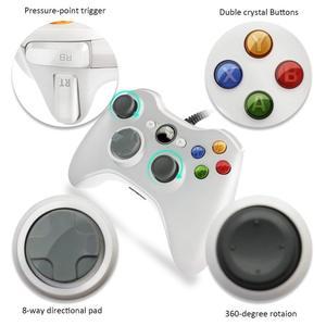 Image 3 - Usb有線コントローラxbox 360 のゲームアクセサリーパッドジョイパッドジョイスティックマイクロソフトXBOX360 コンソールpc携帯電話controle