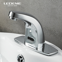 LEDEME Automatic Basin Infrared Sense Faucet with Base Plate Bathroom Basin Water Mixer Sensor Touchless Tap L1055 13