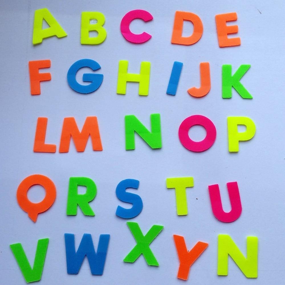 26 літер / набір. 260 Алфавіти A-Z сторінки маркер липкі нотатки етикетка 5 колір змішаний / memo куб розмістити його, етикетці все