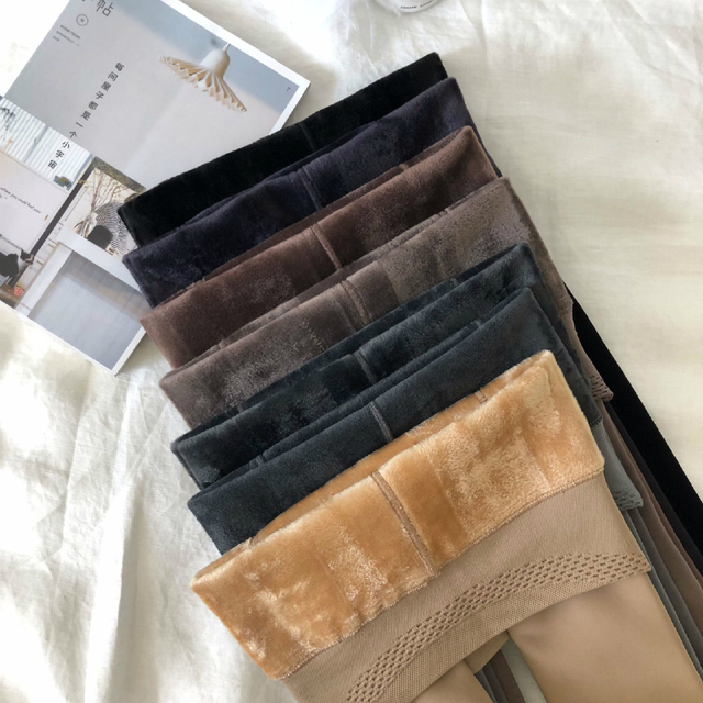 winter warm pants for women Pantyhose push up high waist leggings seamless female clothes warmth tights Autumn pants wholesale