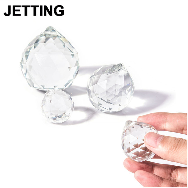 Clear 20/30/40mm Crystal Ball Prism Faceted Glass Chandelier Crystal Parts Hanging Pendant Lighting Ball Suncatcher Home Decor