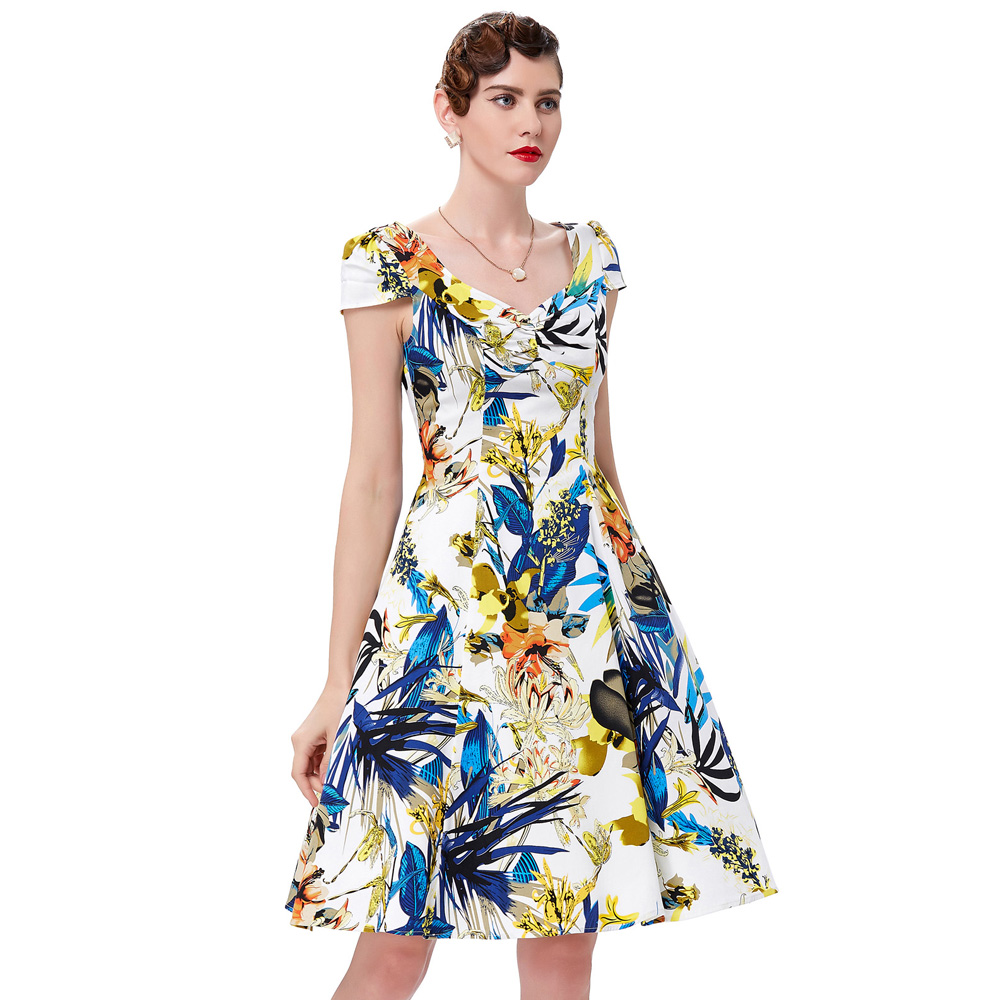 Belle poque retro rockabilly vintage dresses swing housewife belle poque retro rockabilly vintage dresses swing housewife picnic summer style 2018 floral printed pinup dress for women cheap in dresses from womens ombrellifo Images