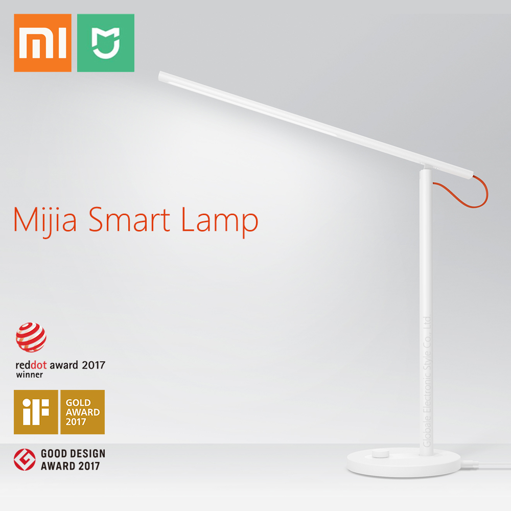 Original Xiaomi Mijia Smart Desk Lamp LED 4 Lighting Modes Flicker-free Intelligent Dimming APP Control xiaomi mijia mjtd01yl lamp smart led desk
