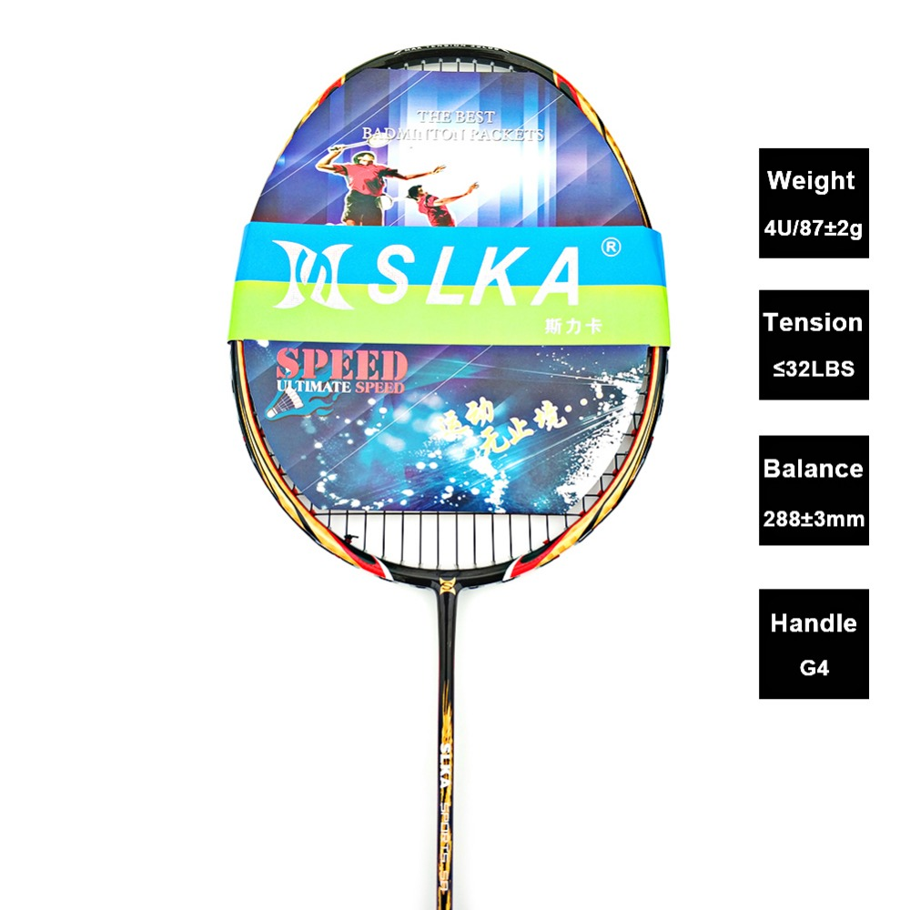 Professional 4U 87g Mens Carbon Badminton Racket 32LBS Power Attack Strung Badminton Racquet with Bag badminton racket n92 professional carbon fiber 4u high quality super light offensive badminton racquet string grip shuttlecock