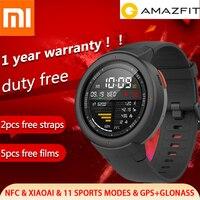 Глобальная версия Xiao mi Hua mi AMAZFIT Verge 3 gps умные часы AMOLED HR ответ на звонки встроенный nfc поддержка mi home Smart control