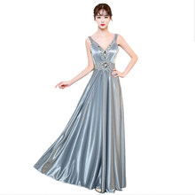 726d5fd967d Diamonds Satin 2018 new Women s elegant long gown party proms for  gratuating date ceremony gala evenings dresses up A71