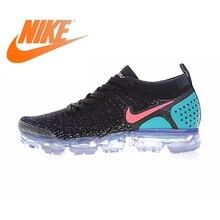 Оригинальная продукция Nike AIR VAPORMAX FLYKNIT 2,0 Аутентичные мужские Беговая спортивная обувь уличные дышащие кеды спортивные дизайнер 942842