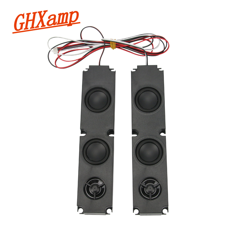 GHXAMP 2PCS 8OHM 10W Long box Full Range Subwoofer Speaker Diaphragm LCD Advertising Machine Monitor TV Speakers 200*45MM