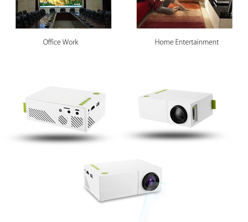 Exquizon YG310 updated YG300 LED Portable Projector HD 800Lumen 320x240 1080P AV USB HDMI Video LED mini Home Media Player  (13)