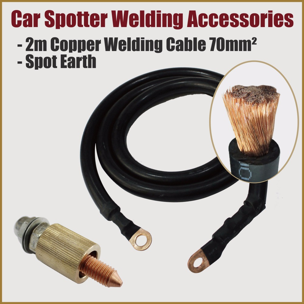 spot welding cable tips machine ground dent puller welder car body repair tools garage workshop stud weld spotter body works ...