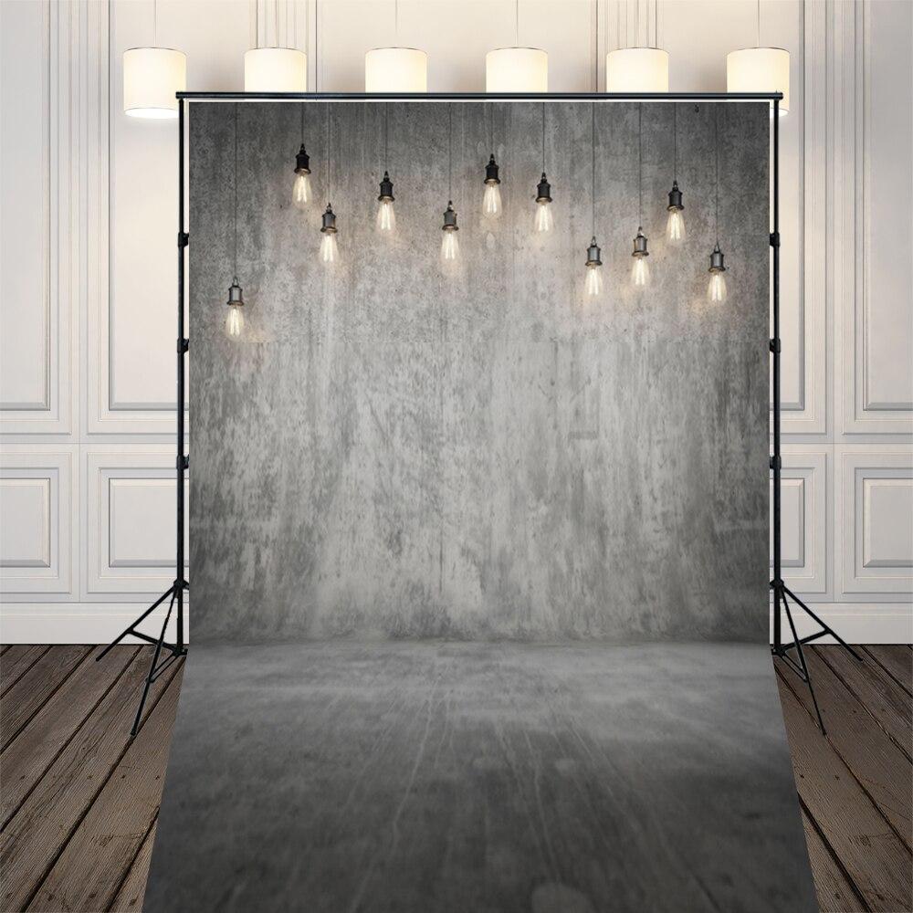 Art Fabric Grey Concrete Wall Photography Backdrop