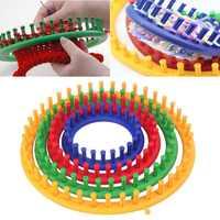 4 tamanho colorido tricô tear conjunto máquina de tricô círculo redondo chapéu knitter lã fio agulhas gancho ferramentas de costura para chapéus cachecóis