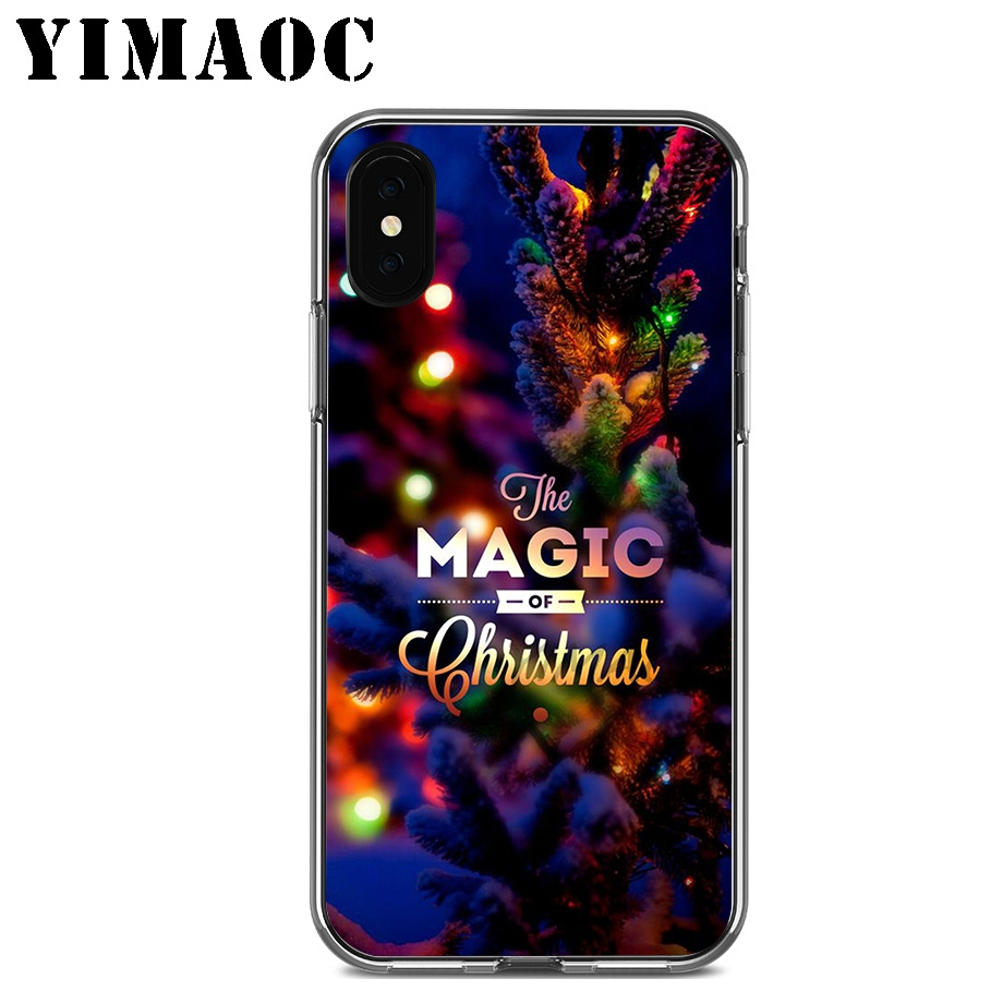 YIMAOC Merry Christmas Lemon Soft Silicone Case for Apple Iphone 11 Pro Xr Xs Max X 10 8 Plus 7 6S 6 Plus SE 5S 5 7Plus 8Plus in Fitted Cases from Cellphones Telecommunications