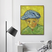 Portrait of Camille Roulin by Vincent Von Gogh Poster Print Canvas Painting Calligraphy Home Decor Wall  Picture for Living Room