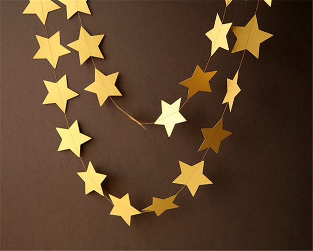 4 м Gold Star гирлянды для Windows двери потолка декоры Свадебные украшения дождя день рождения украшения
