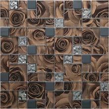 Паркет Хрустальная стеклянная мозаичная плитка Роза ТВ настенная плитка с фоном гостиная настенная бумага ванная комната Душ ванная комната бальный зал вилла