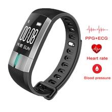 Умный Браслет Фитнес трекер Presión arterial сердечного ритма ЭКГ Monitores Спорт браслет pulsometro для IOS Android Ми