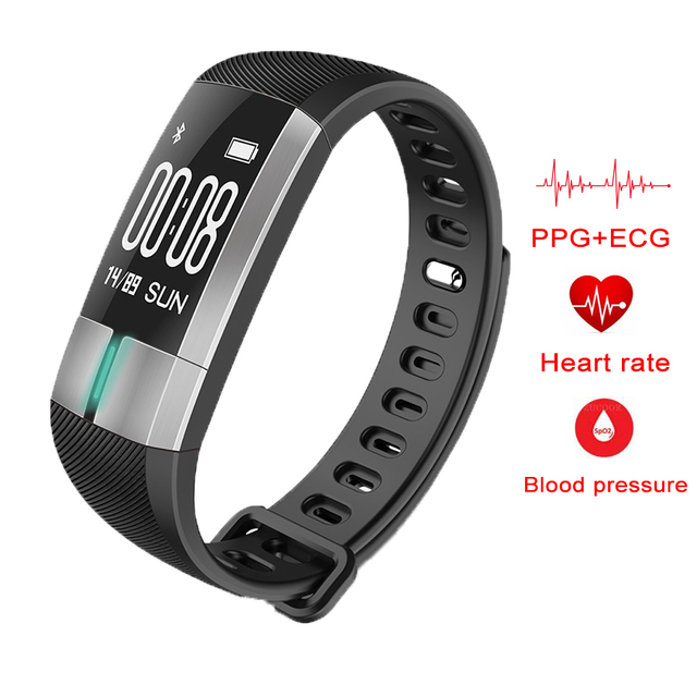 Smart Bracelet Band Fitness Activity Tracker Blood Pressure Heart Rate ECG Monitor Sport Wristband Pulsometro for IOS Android Mi