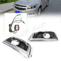 LED Daytime Running Light, Pair DRL Fog Turn Signal Lamp for Chevy Malibu 2013 2014 13 14 New