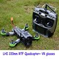 Rc avión rtf qav zmr 220mm quadcopter withflight simulador at9 radiolink 2.4g control remoto 5.8g cámara añadir aeroplano del rc