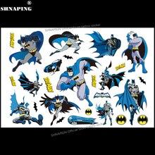 SHNAPIGN Cute Batman Children Cartoon Temporary Tattoos Sticker Fashion Style Elsa Waterproof Girls Kids Boys Hot